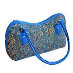 کیف دستی ترمه مدل خورجینی آبی