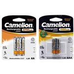 Camelion ACCU Rechargeable AA and AAA Battery Pack of 4
