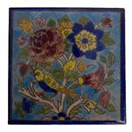 کاشی خشتی 15 × 15 سانتیمتر  گالری مند مدل MK02 طرح گل و قناری