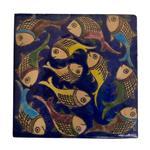 کاشی خشتی 15 × 15 سانتیمتر  گالری مند مدل MK07 طرح ماهی ها