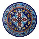 کاشی هفت رنگ قطر 20 سانتیمتر  گالری مند مدل MK13 طرح اسلیمی