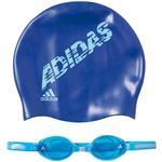 مجموعه کلاه و عينک شناي بچهگانه آديداس مدل AB6071