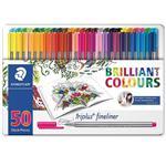 روان نویس 50 رنگ استدلر مدل Triplus Brilliant Colours طراحی Johanna Basford