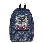 Quilo Handsome Owl Design Backpack
