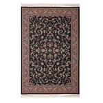 فرش ماشینی سرزمین فرش طرح افشان نایین کد FR97 زمینه سورمه ای