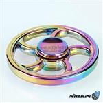 اسپینر فلزی چرخی رنگین کمانی  Steering Wheel rainbow Spinner