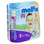 پوشک مولفيکس سايز 3 بسته 14Plus1 عددي