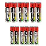 Camelion Plus Alkaline AA and AAA Battery Pack of 12