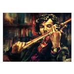 تابلو شاسی ونسونی طرح Sherlock Violin سایز 50 × 70