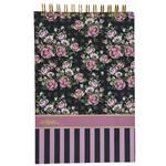 Clips Black Background Rose Design Notebook