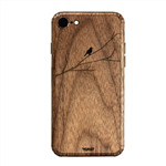 Toast Bird On Branch Wood Cover For Iphone 7