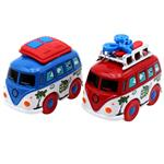 TNT Minyore Mini Metal Bus B Car Pack of 2