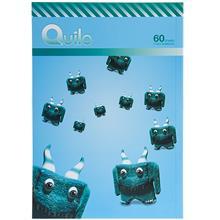 دفتر 60 برگ Quilo طرح هیولای شاخدار بامزه جلد شومیز
