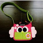 کیف نمدی دخترانه (طرح جغد)