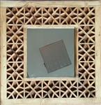 قاب چوبی آینه مشبک گره چینی (60.60)