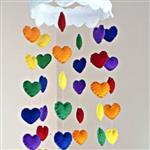 آویز نمدی مدل قلب