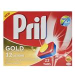 قرص ماشین ظرفشویی پریل  مدل Gold بسته 22 عددی