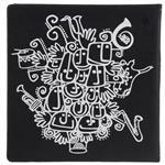 دفتر یادداشت گوشه مدل تخته سیاه طرح ارکستر فیلارمونیک بندر