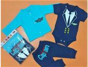 ست لباس نوزادی سه تکه مدل کاپیتان Baby One