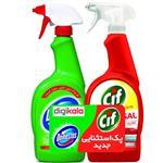 پک اسپری تمیز کننده سطوح دامستوس مدل Green و سیف مدل Universal