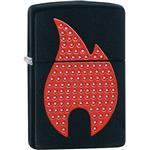 Zippo Bling Zippo Flame Black Matte 29106 Lighter