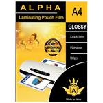 Alpha Glossy Laminating Pouch Film Size A4 Pack Of 100pcs