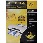 Alpha Glossy Laminating Pouch Film Size A3 Pack Of 100pcs