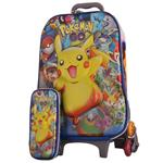 Duk b219-19 Rolling Bag and Pencil Case Set