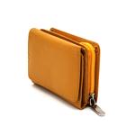 کیف پول جیبی زنانه دکمه دار زرد