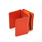 کیف پول جیبی زنانه دکمه دار قرمز