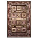 فرش ماشینی شنل پرسان کد 1184 زمینه قهوه ای