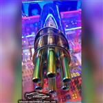 منبع اگزوز هفت رنگ HKS مدل تیربار