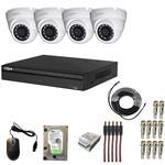 سیستم امنیتی HDCVI 1MP داهوا  اس اسمارت کاربری فروشگاهی 4 دوربین
