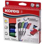 Kores K Whiteboard Marker and Eraser Set