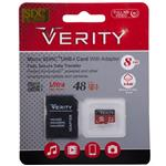 Verity  UHS-I U1 Class 10 48MBps microSDHC With Adapter 8GB