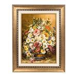 تابلو فرش گالری سی پرشیا طرح گل با سطل چوبی کد 901242