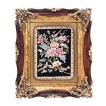 تابلو فرش گالری سی پرشیا طرح گل و بلبل کد 901237