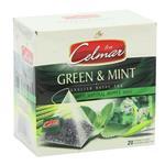 بسته چای سبز سلمار مدل Green and Mint