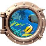 استیکر زیردریایی طرح ماهی