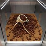 کفپوش سه بعدی آسانسور – قهوه