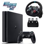 Sony Playstation 4 Slim Region 2 CUH-2016A 500GB Gaming Console Bundle With Logitech G29 Roll