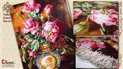 تابلو فرش گل ورسای  رز