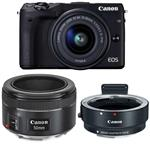 Canon EOS M3 Kit Mirrorless  With 15-45mm EF-M And EF 50mm f/1.8 STM