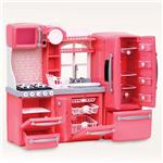Pink Kitchen Set For 45Cm Doll Toy Set