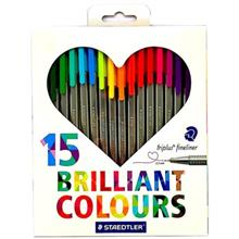 Staedtler Triplus Brilliant Colours Finliner - Pack of 15
