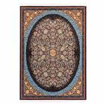 فرش ماشینی دنیای فرش طرح عرش زمینه مشکی