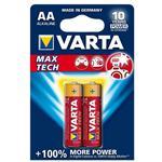 Varta MAX TECH Alkaline LR6-AA Battery Pack of 2