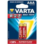 Varta MAX TECH Alkaline LR03-AAA Battery Pack of 2