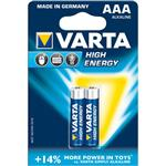 Varta High Energy Alkaline LR03AAA Battery - Pack of 2