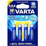 Varta High Energy Alkaline LR03AAA Battery - Pack of 4
